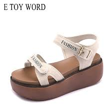 <b>E TOY WORD</b> Sandals <b>Women</b> 2019 Summer Gladiator Sandals ...