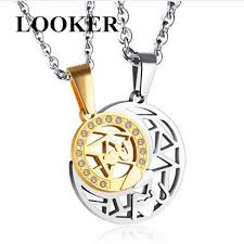 <b>LOOKER</b> Couples Jewelry Necklaces Black White Couple Necklace ...
