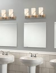 radiant wall lamps with white shade also chrome pipe as bathroom vanity lighting amazing contemporary bathroom vanity lighting