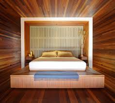 bedroom paneling ideas: master bedroom in small space with wooden decoration darkdud com