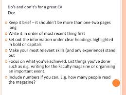 cv   rÉsumÉ  what is a cv  a cv is a personal summary of your    do    s and don    t    s for a great cv do  keep it brief – it