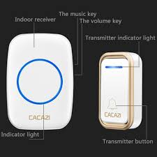 <b>CACAZI</b> Waterproof <b>Wireless Home</b> Doorbell <b>Smart</b> Remote 300M ...