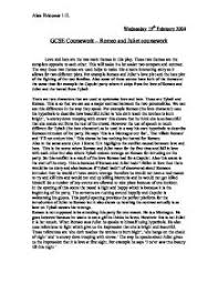 love and hate essay  atslmyfreeipme romeo and juliet love and hate gcse english marked by page
