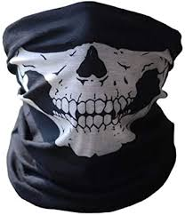 Change <b>Bicycle Ski Skull</b> Half Face <b>Mask</b> Ghost Scarf Multi Use ...