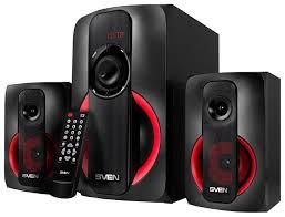 Купить <b>Sven MS</b>-<b>304</b> black and red в Москве: цена <b>колонок</b> для ...