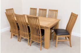 8 Chair Dining Room Set Dining Table Engaging Oak Dining Table And 8 Chairs