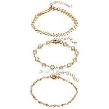 Dropshipping for <b>Rhinestone</b> Arrow Decorative <b>Alloy Ankle Bracelet</b> ...