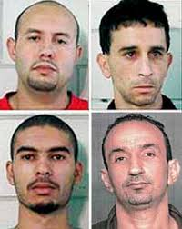Clockwise from top left: Karim Koubriti, Ahmed Hannan, Abdel-Ilah Elmardoudi, and Farouk Ali-Haimoud. [Source: US Department of Corrections, ... - 607_detroit_four_2050081722-8694