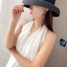 <b>FYUAN</b> Vintage <b>Long Tassel Drop</b> Earrings for Women 2019 Bijoux ...