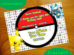 designs pokemon birthday invitations pokemon birthday invitations cards