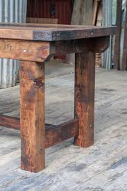 rustic kitchen island: rustic industrial vintage style timber work bench or desk kitchen island table ebay