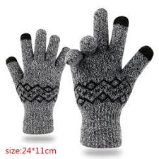 1 Pair Winter Gloves for Men and Women Knit Touch Screen ... - Vova
