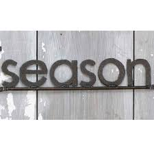 essay on the seasons of summer rainy winter and spring season word sign handmade reclaimed metal by shopgatski