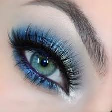 prom makeup for brown eyes and blue dress google search