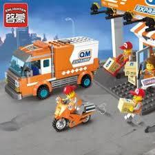 <b>Enlighten</b> Building Block <b>City</b> Cars <b>Express</b> Car <b>337pcs</b> Educational ...