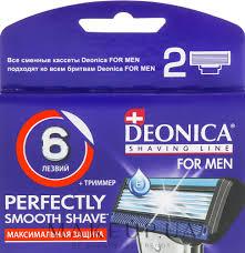 <b>Deonica For Men</b> - Сменные <b>кассеты</b> для бритья, 6 лезвий, 2 шт ...