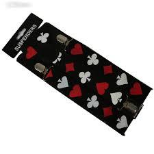 <b>Winfox</b> Fashion Poker 3.5<b>cm Wide</b> Suspenders Men Shirt <b>Black</b> ...