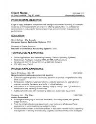 computer system technician resume s technician lewesmr sample resume entry level resumes templates professional objective