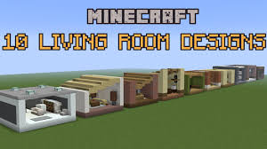 Youtube Living Room Design 10 Minecraft Living Room Designs Youtube