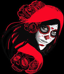 Red Riding <b>Sugar Skull</b> by moOnxinha in 2019 | <b>Sugar skull</b> tattoos ...