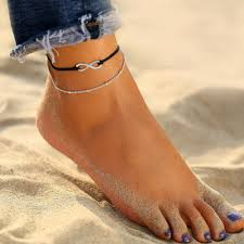 <b>Jewelry 2Pcs</b>/<b>Set Women's</b> Fashion <b>Anklets</b> Silver Chain <b>Anklet</b> ...