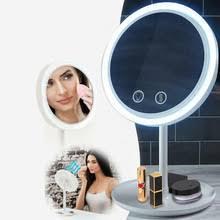 Led Fan <b>Makeup</b> Mirror 5X Magnifying Mirror LED Light Touch ...