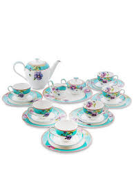 <b>Чайный сервиз на 6</b> перс. ''Виола'' (Viola Pavone) Pavone Bone ...