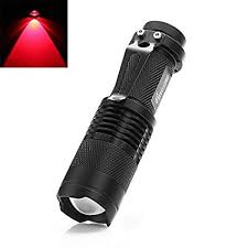SK68 Red Mini 7W 300LM Zoomable LED Hunting ... - Amazon.com