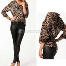 2019 的 <b>Sexy Leopard Print</b> V Neck Long Sleeve Shirt 主题 | <b>New</b> ...