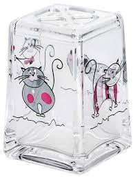 Купить <b>стакан</b> для зубных щеток <b>Tatkraft Acryl</b> Funny Cats 12967 ...