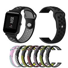 Silicone Watchband <b>Two Color Replacement</b> Smart Bracelet <b>Wrist</b> ...