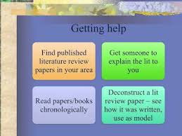 Comparison between the literature review provided