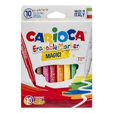 <b>Фломастеры Carioca Erasable</b>, 9цв+1 стиратель, 10шт ...