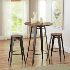 three piece dining set: better homes and gardens harper  piece pub set multiple colors walmartcom