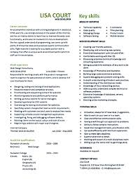 web developer resume sample web designer examples and get template gallery of web developer resume sample
