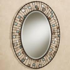 mirror wall decor circle panel: capizia oval wall mirror  capizia oval wall mirror
