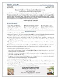 cover letter template for  sample culinary resume  gethook ussmlf