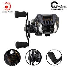 <b>Lieyuwang</b> 6.3:1 13BB Feeder Carp <b>low profile reel</b> wheels Fishing ...