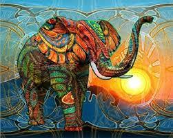 SNNplapla 5D Full Drill <b>Diamond Painting</b> Colorful Elephant <b>Animal</b> ...