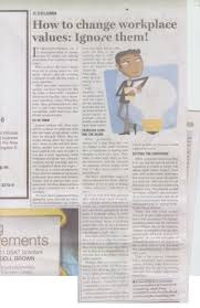 how to change workplace values ignore them chronicles from a i recently wrote an article for the gleaner on how to change workplace values it s as controversial as the speech it was based on which was given