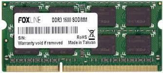 <b>Модуль памяти</b> SODIMM DDR3 8GB <b>Foxline</b> FL1600D3S11-8G ...