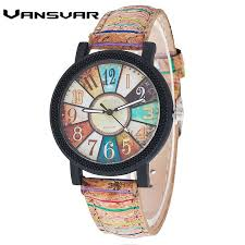Fashion <b>Women</b> Vintage Leather Strap <b>Creative Dial</b> Quartz Watch ...