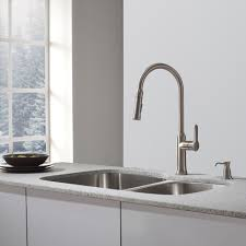 pull kitchen faucet color: kraus nolaamp single lever pull down kitchen faucet