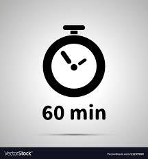 <b>Sixty minutes</b> timer <b>simple black</b> icon Royalty Free Vector