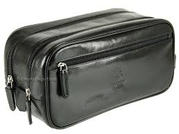 Visconti Luxury <b>Real Leather</b> Toiletry Wash Bag Wet Pack - Naples ...