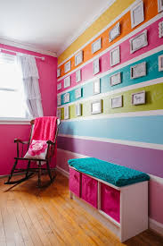 girls room decor ideas painting: rainbow decor is a great idea for a babys room infants can only see bright colors when they are newly born using a neutral hard wood floor makes the rest