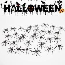 30/60/90pcs Black <b>Halloween Spider Party Supplies</b> Decoration ...