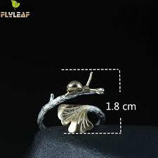 Online Shop <b>Flyleaf</b> 100% <b>925 Sterling Silver</b> Snail Ginkgo Leaves ...