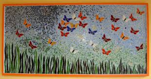 mosaic wall decor: custom made wall decor butterfly mosaic i