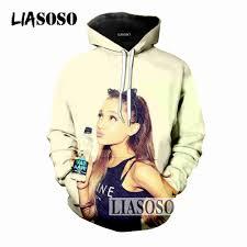 LIASOSO 2019 Ariana Grande <b>Hoodies Sweatshirts Men Women</b> ...